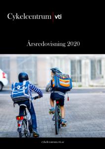 Framsida Cykelcentrums årsredovisning 2020. Foto.